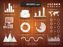 Creative 3D infographic elements for business. Stock Image