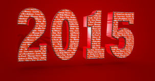 2015 creative 3D typography resolution for better life?. 2015 creative 3D typography resolution for better life Stock Photo