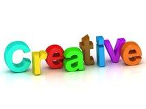 Creative 3d word colour bright letter Stock Photo
