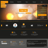 Creative Dark Website Template Royalty Free Stock Image