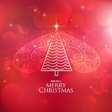 Creative decorative christmas tree design background. Illustration Stock Illustration