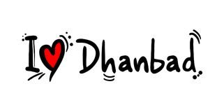 Dhanbad city love message. Creative deisgn of Dhanbad city love message Stock Photos