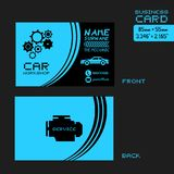 Workshop car business card Royalty Free Stock Photography