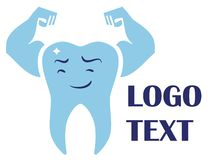 Creative dental logo template stock illustration