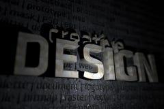 Creative Design 3D Theme royalty free illustration