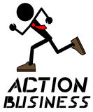 Action business Royalty Free Stock Images