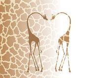 african giraffes illustration Stock Images