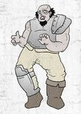 Angry barbarian. Creative design of Angry barbarian Royalty Free Stock Photo