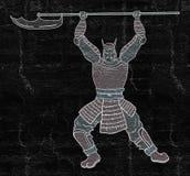 Armor samurai. Creative design of Armor samurai stock illustration