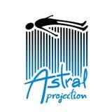 Astral projection illustration. Creative design of Astral projection illustration stock illustration