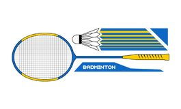 Badminton sport symbol stock illustration
