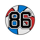 Ball of basketball with the number 86. Creative design of ball of basketball with the number 86 Royalty Free Illustration