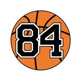 Ball of basketball with the number 84. Creative design of ball of basketball with the number 84 Royalty Free Stock Image