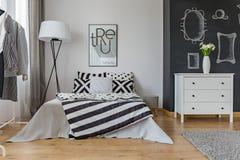 Creative design of bedroom interior Royalty Free Stock Photos