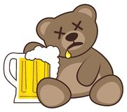 Beer and bear Royalty Free Stock Images