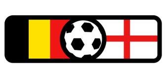 Belgium vs England flags. Creative design of Belgium vs England flags Royalty Free Stock Images