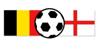 Belgium vs England flags. Creative design of Belgium vs England flags Stock Image