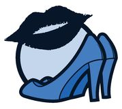 Blue kiss woman Royalty Free Stock Images
