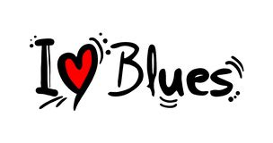Blues music style love. Creative design of Blues music style love vector illustration