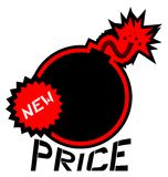 Bomb price Royalty Free Stock Photo