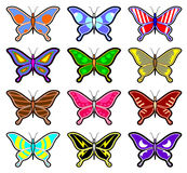 Color art butterflies Royalty Free Stock Photos