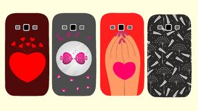 Creative design cases for phones Stock Photos