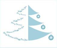 Creative design Christmas tree. Christmas (New Year's) card. Vector illustration Stock Photography
