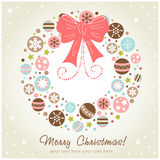 Creative design Christmas wreath Stock Photos