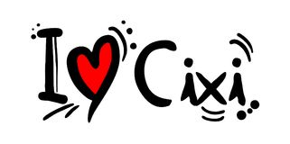 Cixi city of China love message Royalty Free Stock Photos