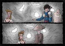 Fantasy comic scene Royalty Free Stock Photography