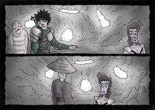 Fantasy comic scene background Royalty Free Stock Image