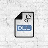 Computer configuration dll file icon. Creative design of computer configuration dll file icon stock illustration