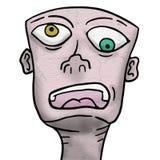 Crazy face. Creative design of crazy face Royalty Free Stock Photos