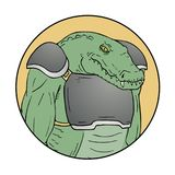 Crocodile mutant. Creative design of crocodile mutant draw stock illustration