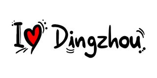 Dingzhou city love message. Creative design of Dingzhou city love message Stock Images