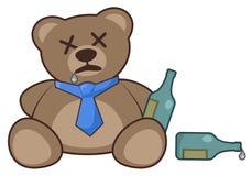 Drinking bear Royalty Free Stock Photos
