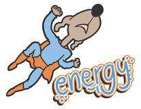 Energy hero Stock Image