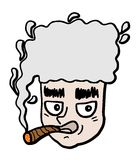 Face smoking Royalty Free Stock Photo