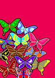 Fashion butterflies background Stock Photo