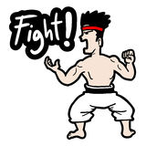 Fight cartoon. Creative design of fight cartoon Royalty Free Stock Photo