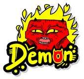 Fire demon. Creative design of fire demon Stock Photography