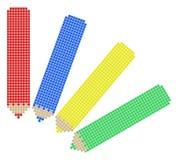 Four color pencil Stock Images