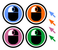 Four mouse icons Royalty Free Stock Photos