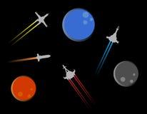 Four spacecraft Stock Photo