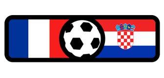 France vs Croatia flags. Creative design of France vs Croatia flags Royalty Free Stock Photo