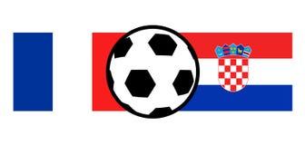 France vs Croatia flags. Creative design of France vs Croatia flags Stock Photography