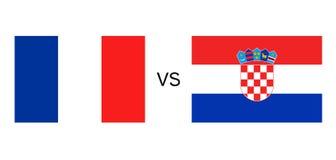 France vs Croatia flags. Creative design of France vs Croatia flags Stock Photos