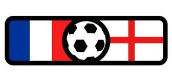 France vs England flags. Creative design of France vs England flags Royalty Free Stock Images