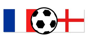 France vs England flags. Creative design of France vs England flags Stock Images