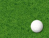 Golf ball in grass background. Creative design of Golf ball in grass background Royalty Free Stock Photo